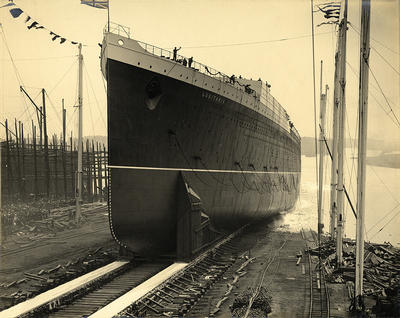 The launch of the Lusitania