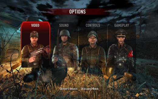 Some of the game enemies featured in the menu #2.