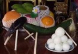 offering food in obon festival