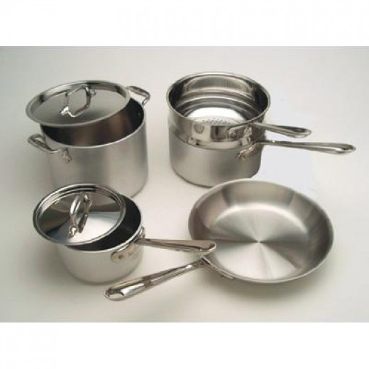 Photo of stainless steel cookware offered by All-Clad