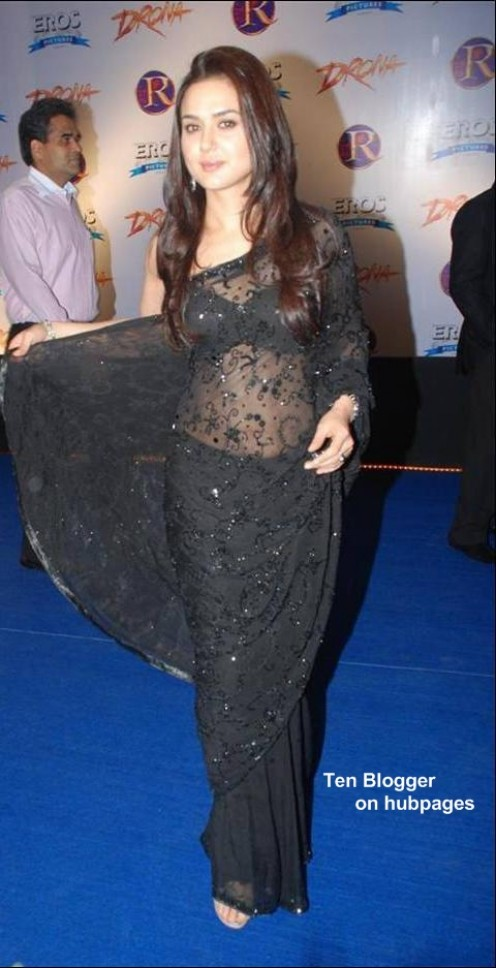 preity zinta in Black saree