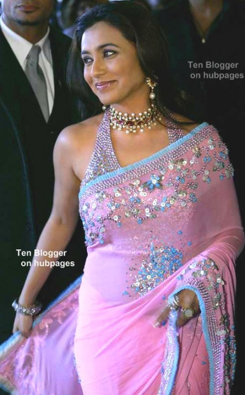 rani mukherjee is hot in Pink saree