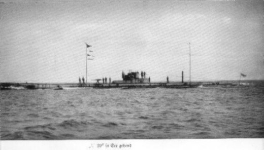 The U-20: The German U-Boat responsible for sinking the Lusitania.