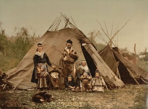 A Saami family from about 1900