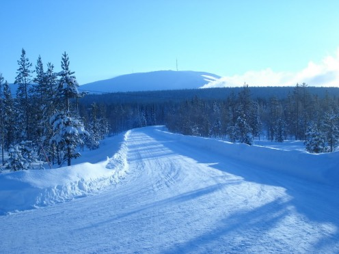 Lapland countryside during winter