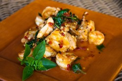 Thai Stir Fried Shrimp with Basil Recipe. Pad Krapow Kung
