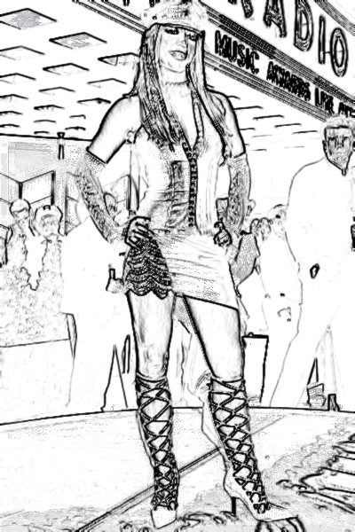 Britney Spears Free-Kids Coloring Pages Colouring Pictures to Print