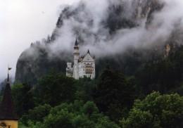 Ludwig's Neuschwanstein Castle in the mist.