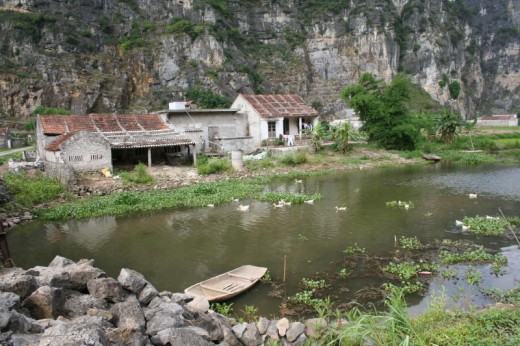 Rural homes around surprising Ninh Binh
