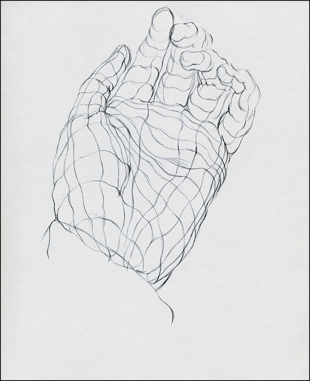 Contour Line Drawing Objects : Cross contour drawing for beginners