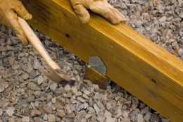Securing the Deck Beam to the Footing