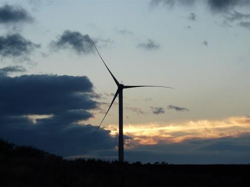 Wind farms are spreading.
