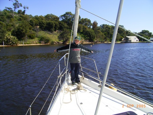 I just love sailing. Is there any  better place in the world than Swan River and Perth?