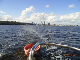 Towing away on the Swan River