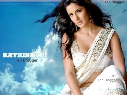 Katrina Kaif Off White Saree