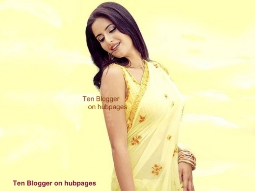 Katrina has great smile in the sunshine yellow saree