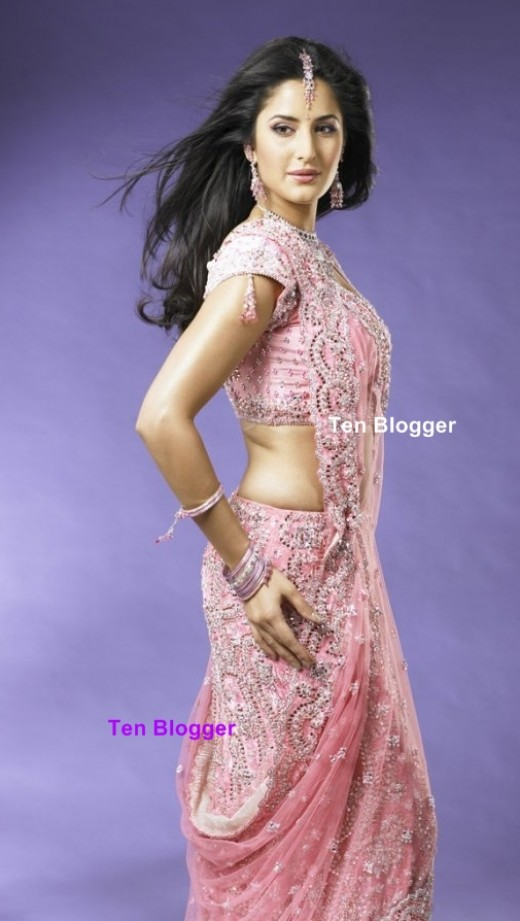Katrina in pink sareee is most beautiful. This is formal bridal saree