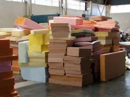 A warehouse full of memory foam, in varying thicknesses.
