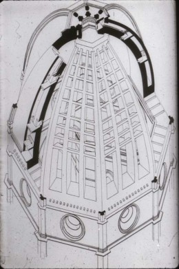Architectural drawing of Brunelleschi's Dome