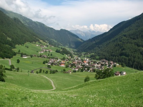 Small Mountain villages dotted all through the mountains of the Tyrol