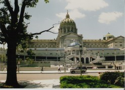 Pennsylvania's massive state house in Harrisburg.
