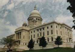 Rhode Island's state house: A replica of the nation's capitol.