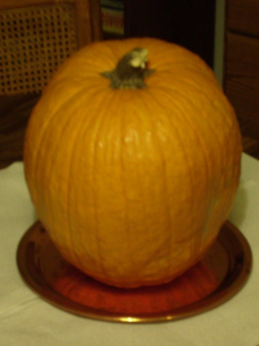 Pumpkin waiting to be Turned into a Jack-O-Lantern
