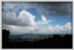 The clouds in the sky of Shillong.