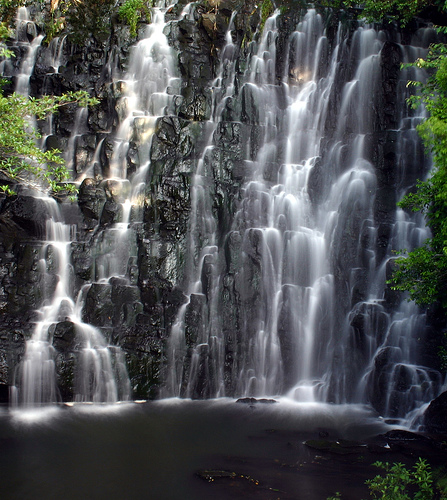 A view of Elephant Falls in front.
