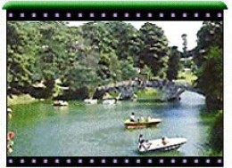 The scene of boating in the Lake of Shillong.