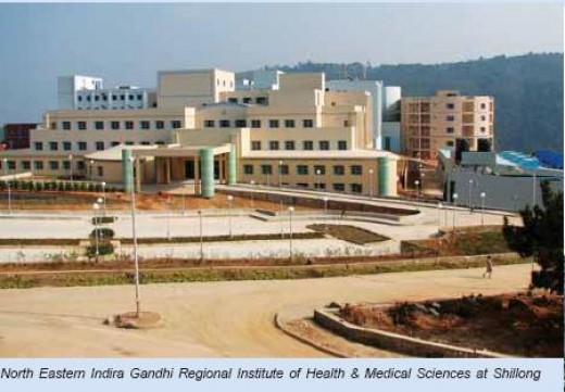 The newly built Civil Hospital in Shillong.