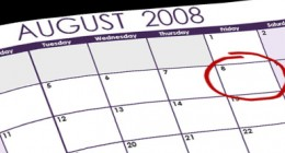 Set your wedding date for Friday, August 8, 2008.