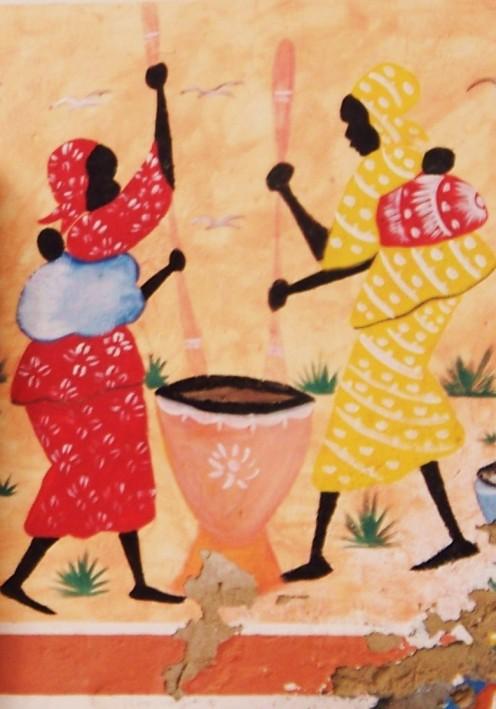 Ashanti village life. Ghana, West Africa