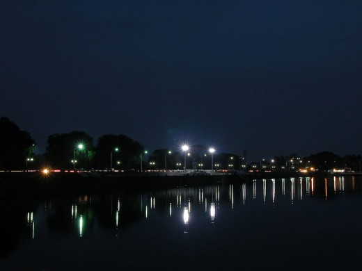 Futala Lake in night