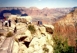 One of many overlooks at the Grand Canyon