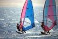 Wind surfing in Paracas