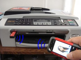 Bluetooth enabled printer