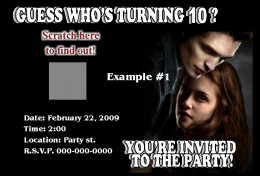 Twilight Scratch Off Party Invitation Sold on Ebay from; PERSONALIZED PARTIES EXPRESS