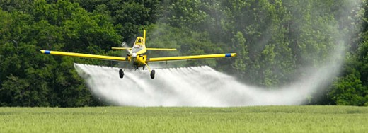 Resmethrin being sprayed in Pennsylvania 2008.  Resmethrin is a type of pyrethroid insecticide.