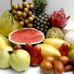 Commercially grown organic fruits from India