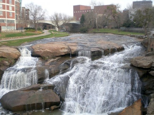 Falls Park in Downtown Greenville.