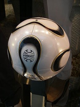Modern soccer ball as used in 2006 world cup