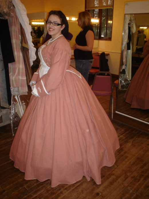 Backstage in the dressing room ~ the Victorian Fashions Show, Riverside Dickens Festival, February 2009, Riverside, California