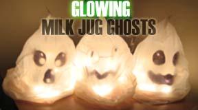How to Make Glowing Milk Jug Ghosts