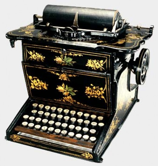 One of the world's first typewriters