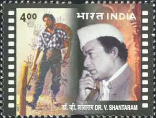 Indian postal stamp.released in honour of V.Shantharam