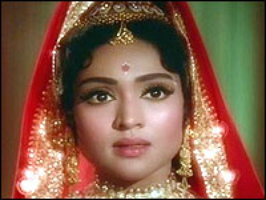 Vyjayanthi mala-A south Indian  actress who became a shining star in Hindi movies.A fomous dancer too.Now living in Mumbai