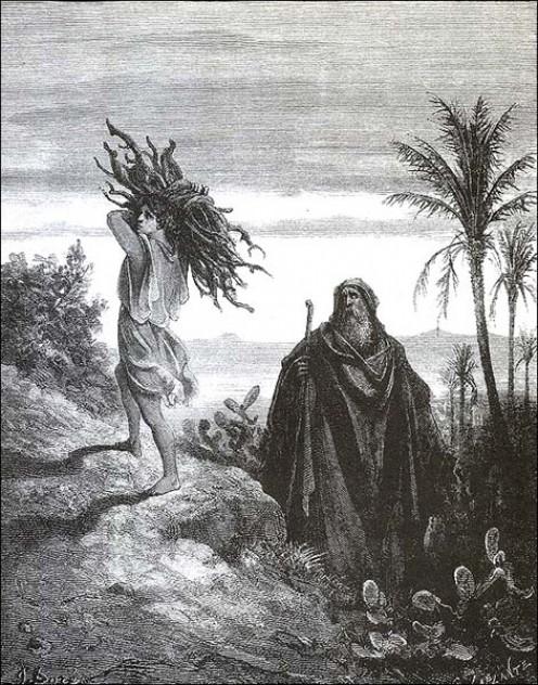 Abraham's sacrifice of Isaac.
