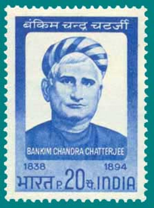 Bengali poet Bankimchandra Chatterjee,journalist, freedom fighter, novelist and poet-who composed the immortal song-Vande Mataram