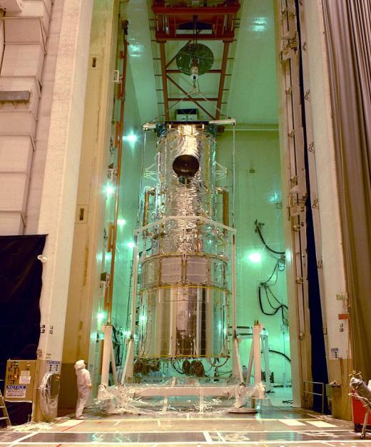 Courtesy of NASA/   1990 ready to go into space.